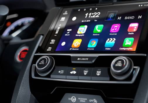 Interface Apple CarPlay e Android Auto™