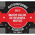 Maior Valor de Revenda 2017 - Scooter até 200cc - PCX 150