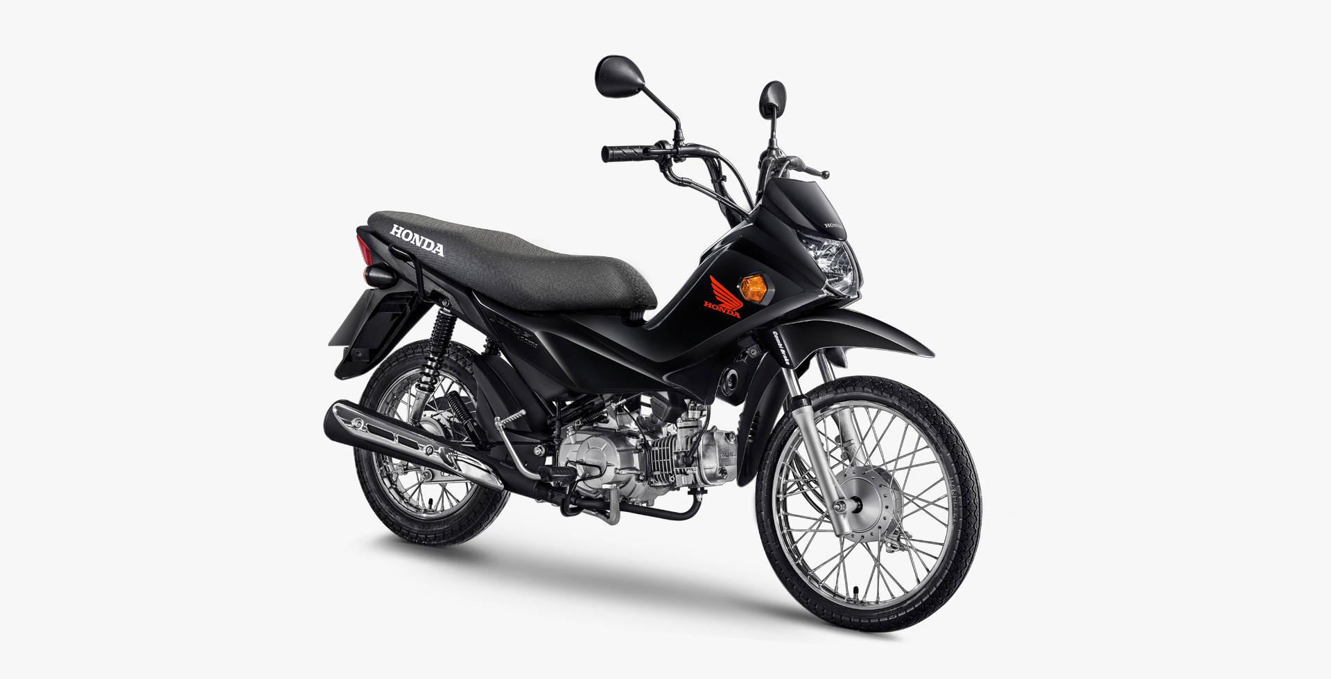 galeria pop110i 3 4 preta - Moto Honda Motopel